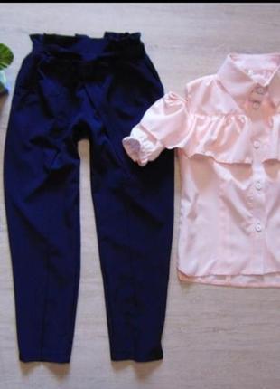 Комплект брюки и блуза