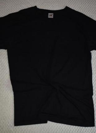 Чёрная футболка fruit of the loom