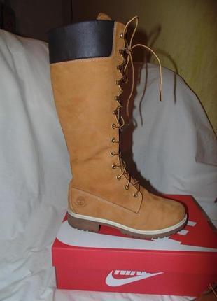 Ботинки ботфорты сапоги высокие timbarland оригинал кожа нубук...