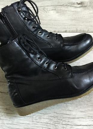 Ботинки женские bianco 24см 24.5см натур.кожа