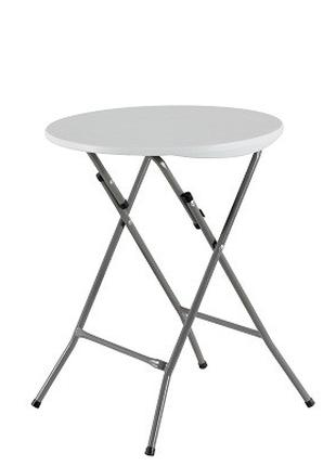 Стол складной круглый, 0,6 м., Time Eco ТЕ-1834, белый