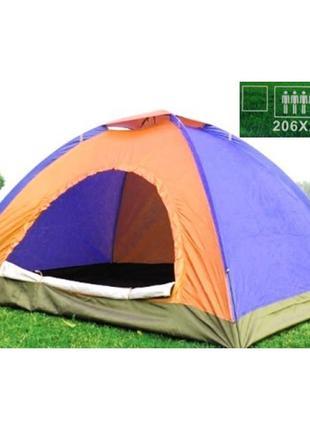 Палатка 4-х местная туристическая непромокаемая палатка кемпин...