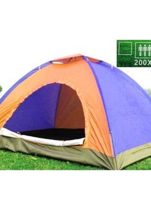 Палатка 3-х местная туристическая непромокаемая палатка кемпин...