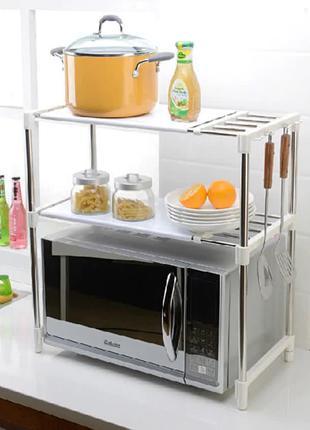 Кухонный стеллаж для микроволновки с полками