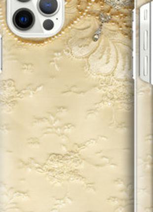 "Чехол на Apple iPhone 12 Кружевной орнамент ""2160c-2053-48307"""
