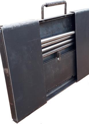 Мангал разборной, чемоданчик толщиной 2 и 3 мм на 6 и 8 шампуров