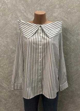 Рубашка блузка на плечи в полоску