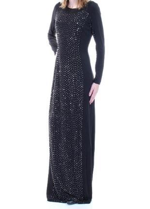 Вечернее макси платье calvin klein с декором по переду размер ...