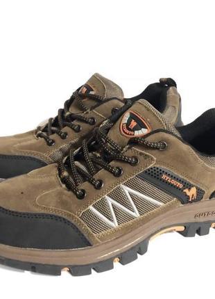 Коричневые кроссовки outdoor на платформе !
