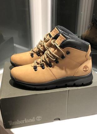 Кожаные ботинки timberland world hiker boots !