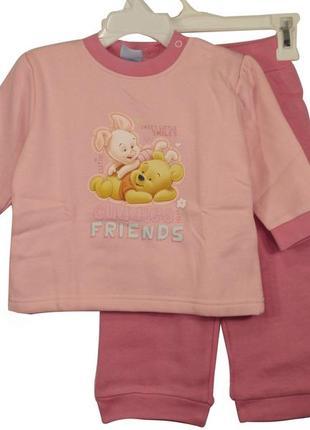 Теплая пижама с начесом для девочки от disney р. 74-80 домашни...