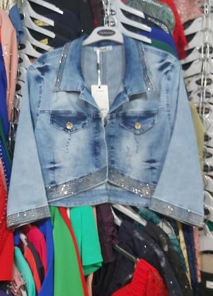 Пиджак джинсовый косуха турция бомбер большого размера ветровк...
