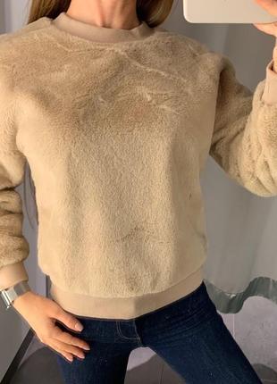 Плюшевый свитшот amisu есть размеры