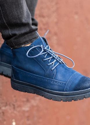 Качественные натуральные тёплые зимние мужские ботинки на меху