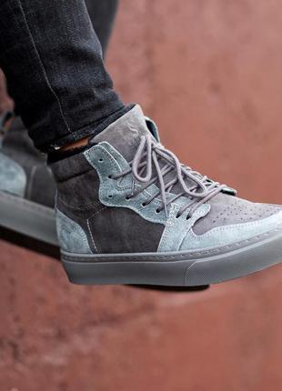 Качественные натуральные зимние ботинки на меху мужские