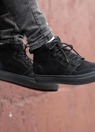 Натуральные качественные зимние мужские ботинки на меху