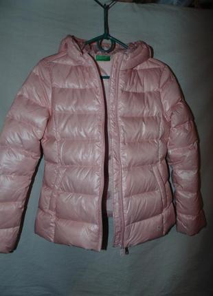 Куртка пуховик натуральный пух united colors of benetton оригинал