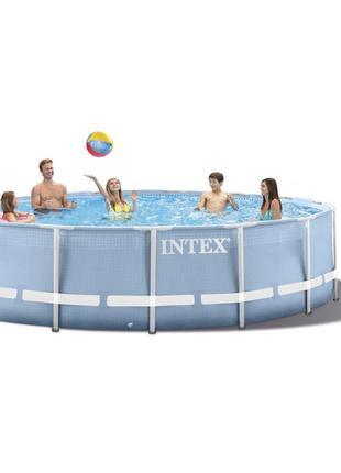Intex 28736 - круглый каркасный бассейн Prism Frame 457х122 см По