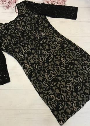 Платье нарядное кружевное шикарное прямое