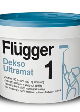 Flugger Dekso 1, прочная, ультраматовая 100% акриловая краска