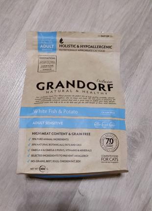 Кошачий корм Grandorf Adult Sensitive 400г