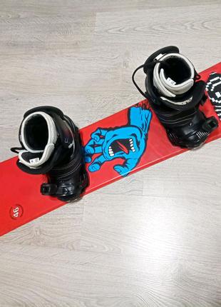 Комплект сноуборд 146 см + крепления + ботинки