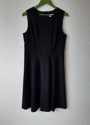 Шикарное черное платье миди
