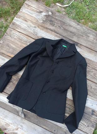 Чёрный пиджак жакет классика