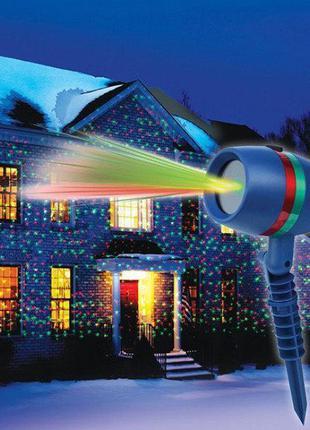 Лазерный проектор на Новый год Woterproof Garden light.Качеств...