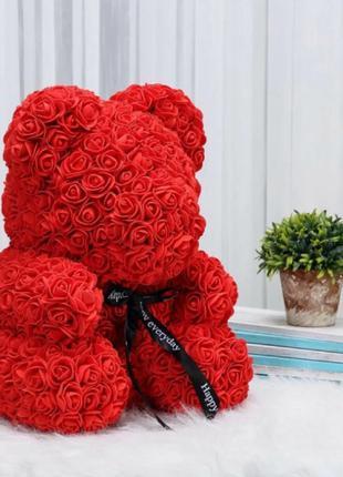 Мишка из 3D роз 25 см в красивой подарочной упаковке мишка Тед...
