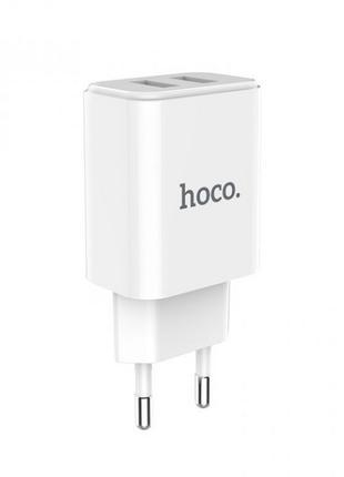 Сетевое зарядное устройство Hoco C62A Victoria (2USB, 2.1А) White
