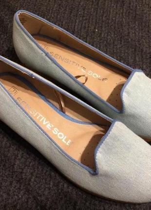 F&f sensitive sole джинсовые босоножки туфли на танкетке