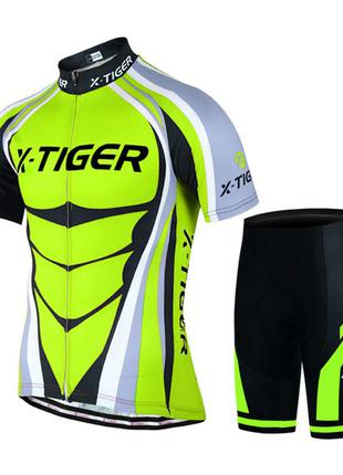 Вело джерси для мужчин X-Тiger QT/T1616 шорты велоодежда форма