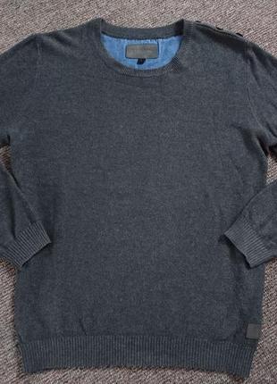 Шикарный серый мужской свитер