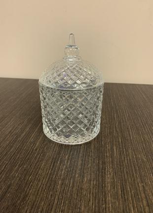 Цукорниця скляна