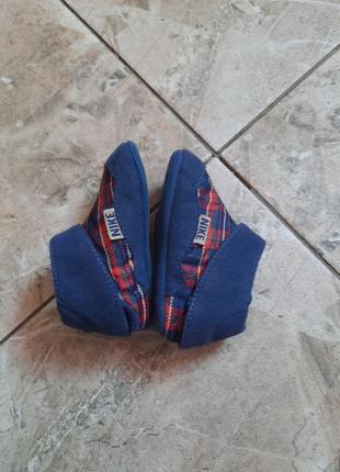Пинетки модные на липучках nike 12см стелька