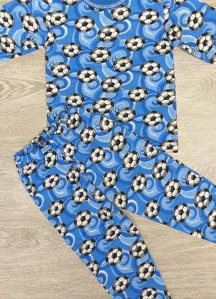 Пижама для мальчика мячики с начесом на 1-2 года