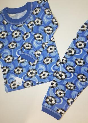 Детская пижама для мальчика с мячиками на 3-4 года