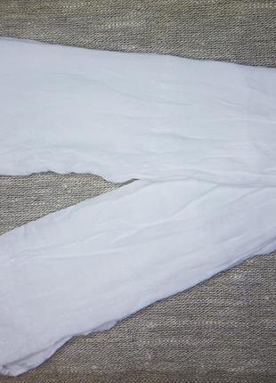Детские капроновые колготки с рисунком розочки белые на утренник