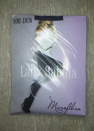 Колготки lady sabina 100 den microfibra antracite р.4, с уплот...