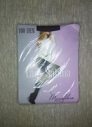 Колготки lady sabina 100 den microfibra mocca р.4, с уплотненн...