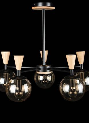 Люстра потолочная светильник со стеклянным плафоном в стиле ло...