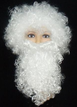 Комплект Деда Мороза Парик с бородой ABC ЭЛИТ