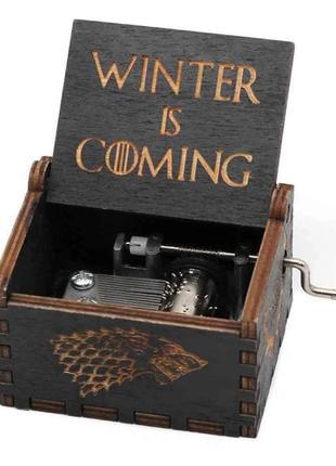 Шкатулка музыкальная Игра престолов Winter is Coming ABC