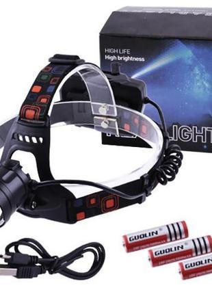 Налобный фонарик Bailong BL-218-P50 (120)