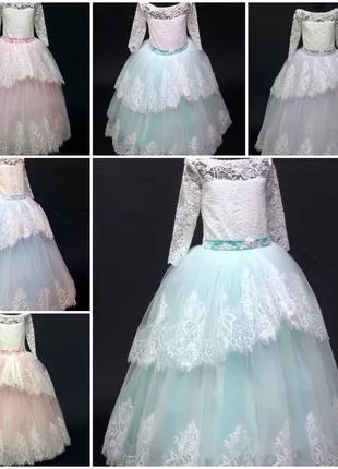 Нарядное бальное детское платье Ева