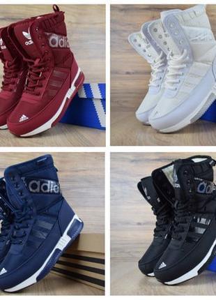 Женские зимние сапоги ботинки дутики Adidas Nike Reebok
