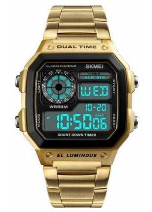 Часы наручные электронные Skmei 1335 Gold