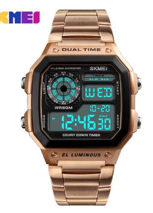 Часы наручные электронные Skmei 1335 Rose gold