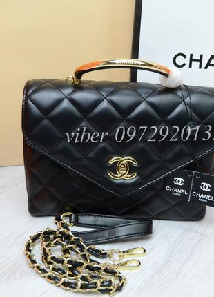 Женская сумка Chanel Шанель черная брендовая